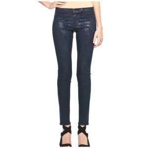 J Brand Snakeskin Coated Jeans